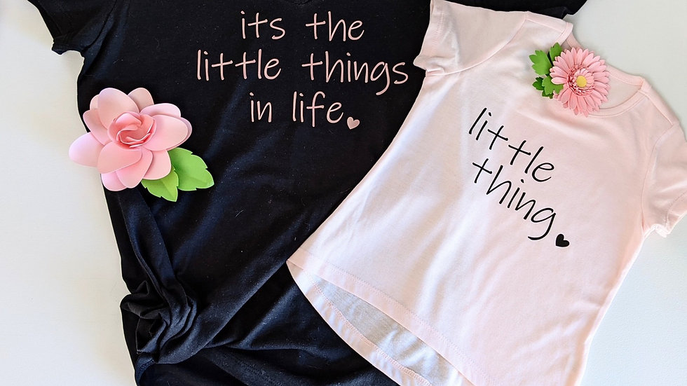 Little Things Mommy and Me tshirt size