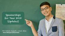 Speakership Updates: Year 2018