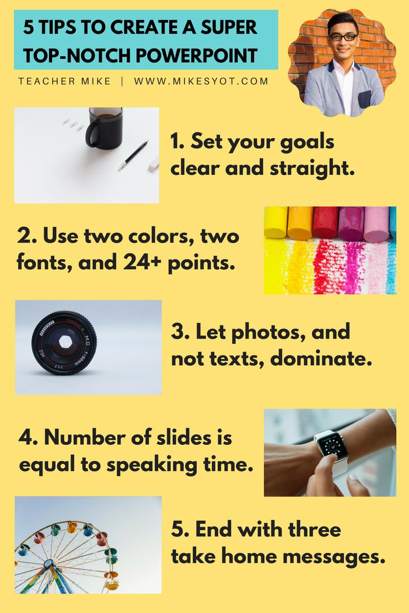 5 Tips for Superb PPT