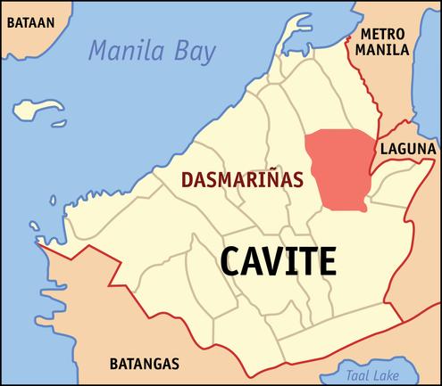 Map of Manila and Dasmarinas