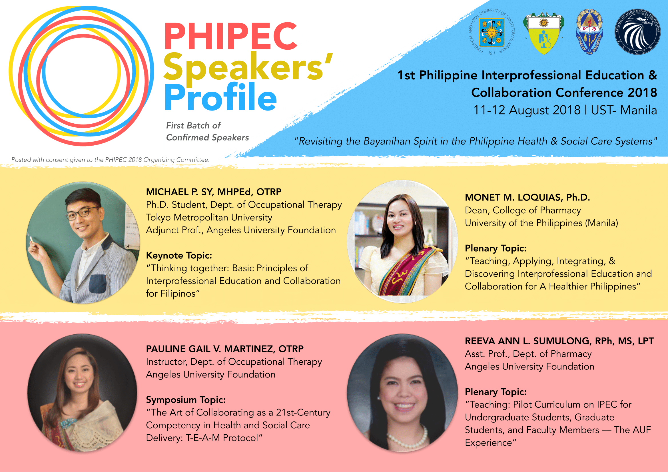 PHIPEC 2018 Speakers (Batch 1)