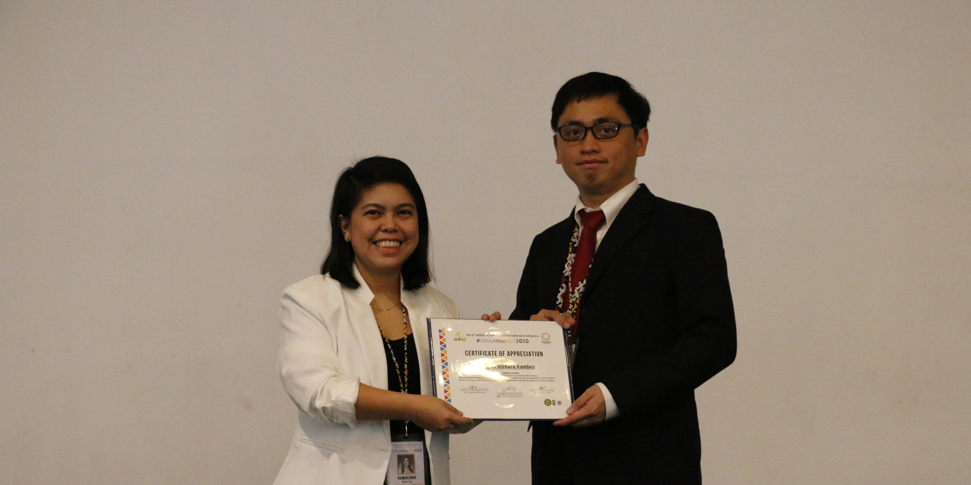 PHIPEC and APIPEC Networks - Ms. Reeva Ann Sumulong and Dr. Daniel Kambey