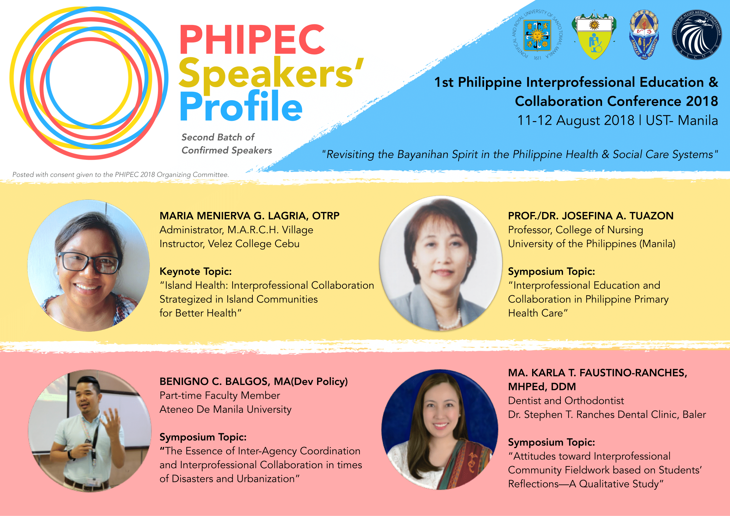 PHIPEC 2018 Speakers (Batch 2)
