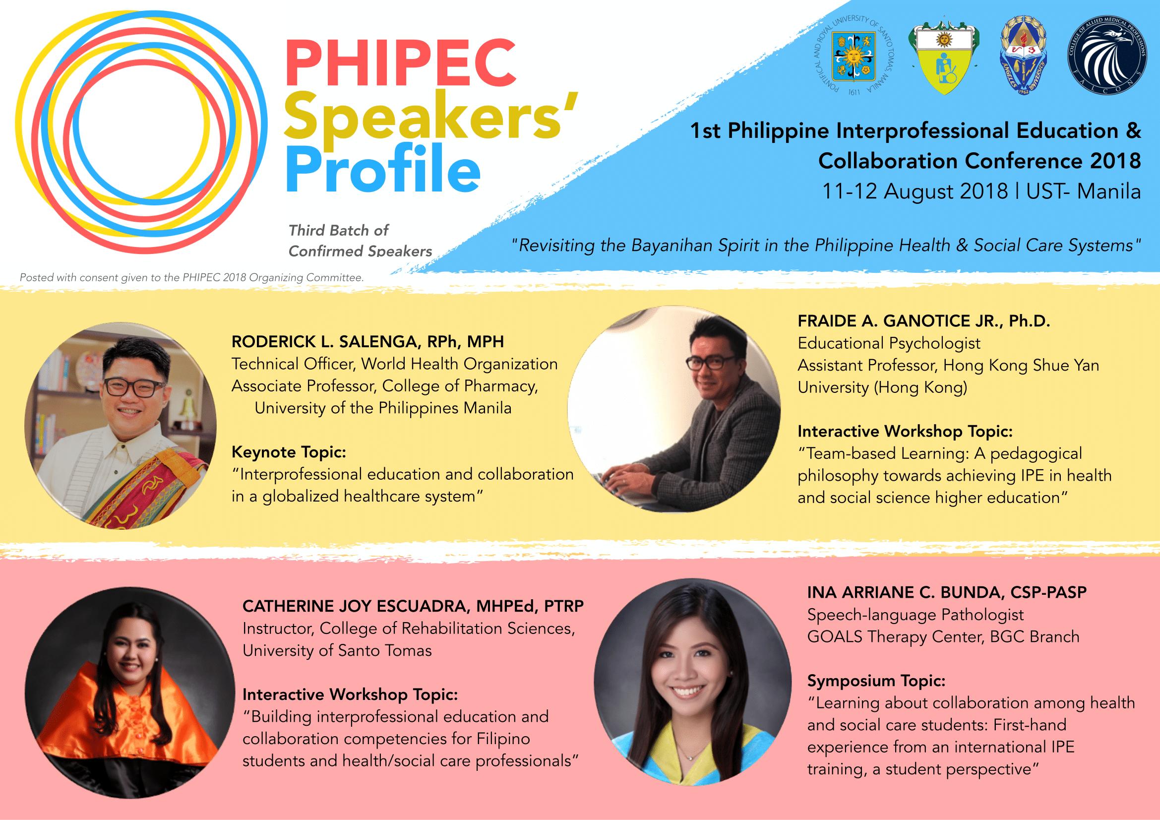 PHIPEC Speaker Teasers Batch 2-11