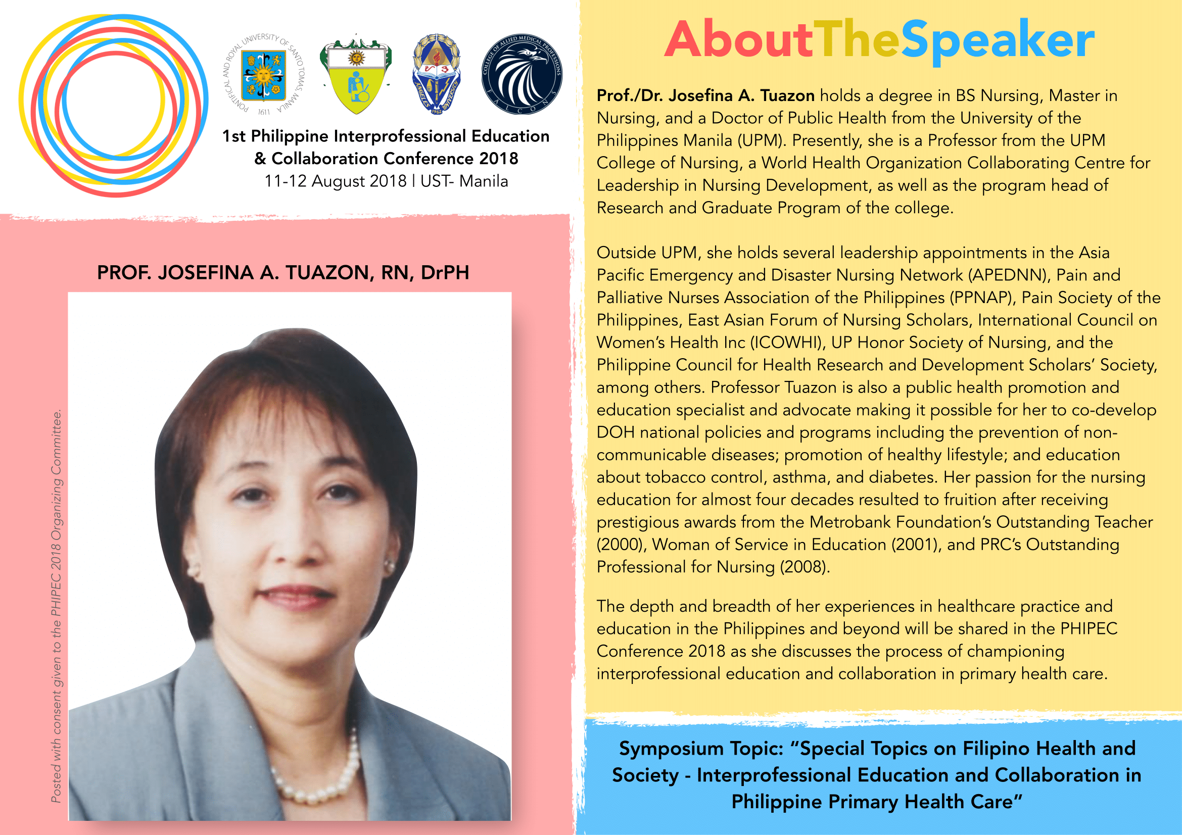 Prof. Josefina A. Tuazon, DrPH, RN