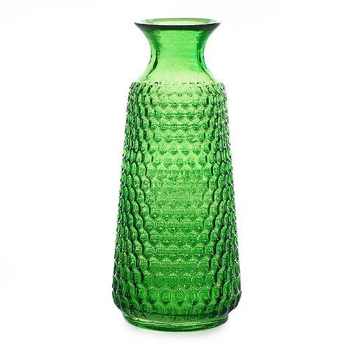 ANNIE VINTAGE GREEN GLASS VASE