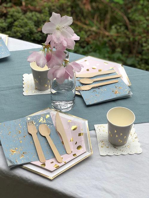 RACHEL LINEN TABLE RUNNER- SKY BLUE