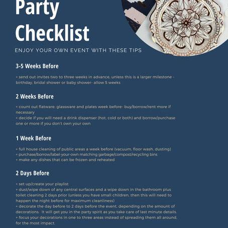 The Ultimate Party Checklist