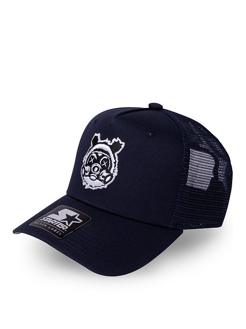 Navy Blue Bear Gass Trucker
