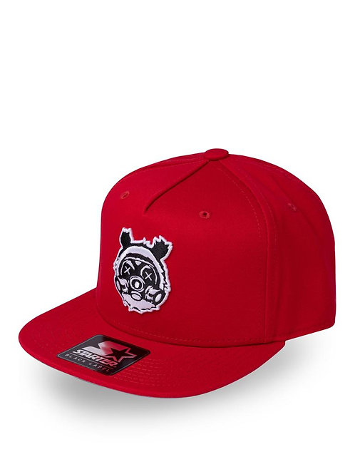 Italia Red Bear Gass Snap Back Cap