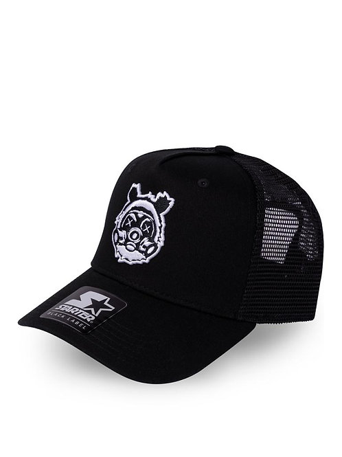 All Black Bear Gass Trucker