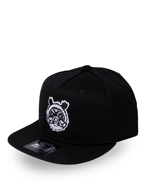 Jet Black Bear Gass Snap Back Cap