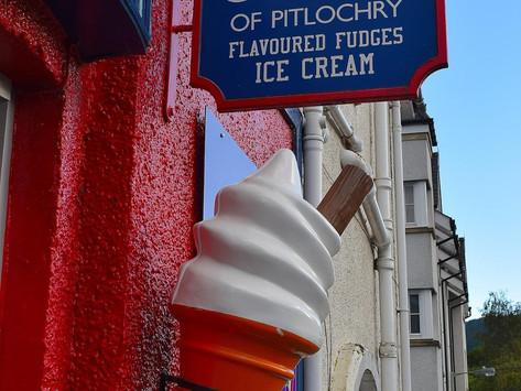 Scottish Highlands & Pitlochry, Scotland (Ice Cream)