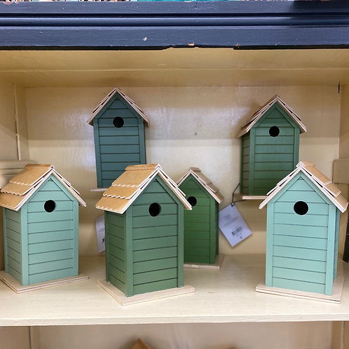 Shades of Green Birdhouses