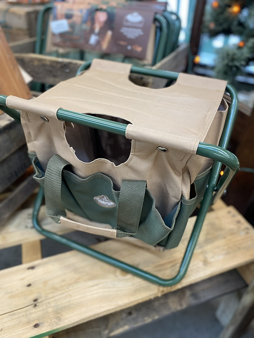 Canvas Tool Bag and Stool Carry-all