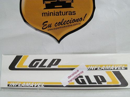 Decalque amarelo p/ carreta GLP tipo arpra (escala 150)