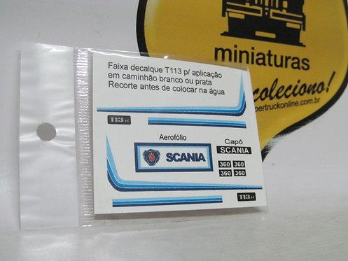 Decalque faixa azul p/ scania 113 tipo arpra (escala 1/50)