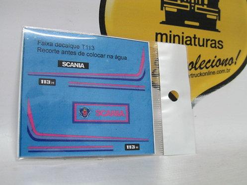 Decalque faixa lilás p/ scania 113 tipo arpra (escala 1/50)