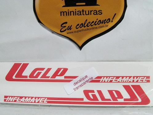 Decalque vermelho p/ carreta GLP tipo arpra (escala 150)