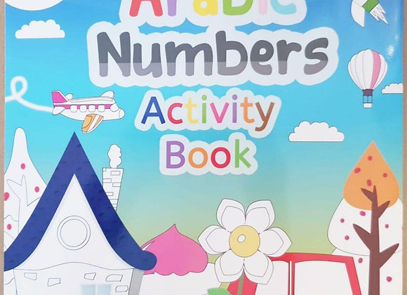 Arabic Numbers Colouring Book