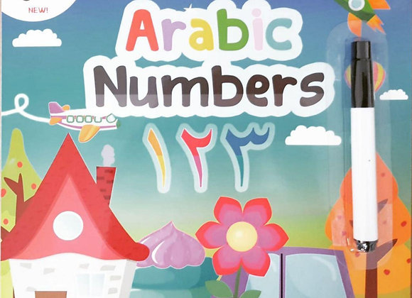 Arabic Numbers Wipe & Clean Board Book