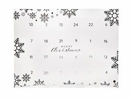 Cornish Fudge Advent Calendar - White/Silver
