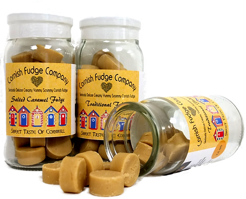 Traditional & Salted Caramel Fudge Jars