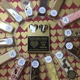 2 Bar Love Heart Fudge Box Gift (Gold)