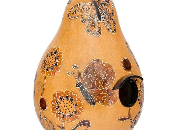 Butterflies - Gourd Bird House