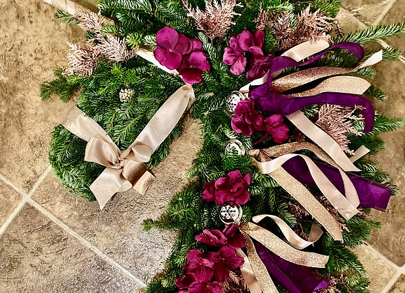 Holiday Horse Wreath