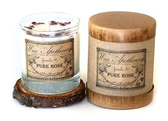 Pure Rose Botanical Candle in 7oz Scotch Glass