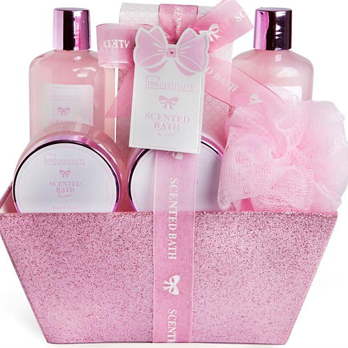 INSTITUTE SCENTED BATH PINK BASKET 6 PCS