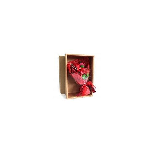 Bouquet flores jabón en caja