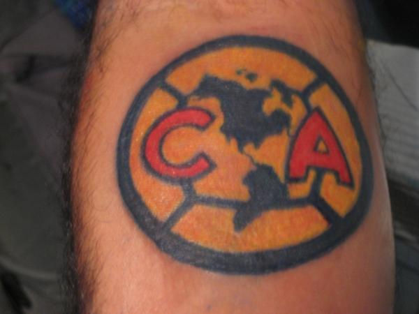 Club America Logo sports themed tattoo picture