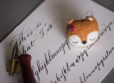 (Un)beschreiblich schöne Hochzeitskarten?! Ein Klacks mit Kalligrafien vom Tintenfuchs!