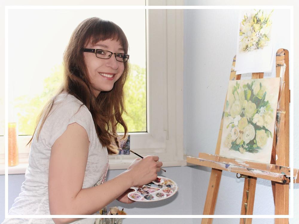 Johanna Hattner im Atelier
