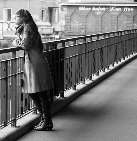 Johanna Hattner on a Bridge in Hamburg