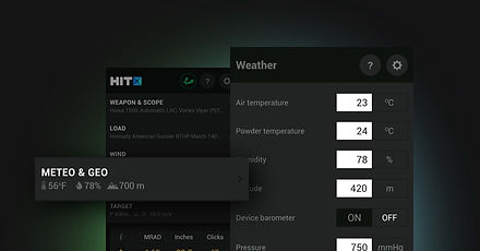 HitX Meteo and Geo conditions