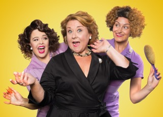 SALAD DAYS -  Francesca Pimm (Helouise), Wendi Peters (Lady Raeburn) and Ashlee Young (Manicurist).