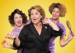 SALAD DAYS -  Francesca Pimm (Helouise), Wendi Peters (Lady Raeburn) and Ashlee Young (Manicurist).