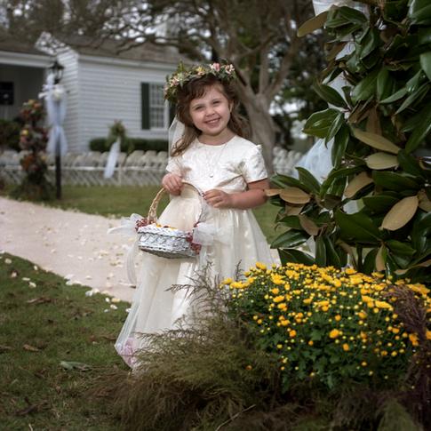 Precious flower girl at Azalee Plantation near Shreveport, LA
