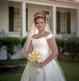Beautiful outdoor bride at Azalee Plantation near Shreveport, LA