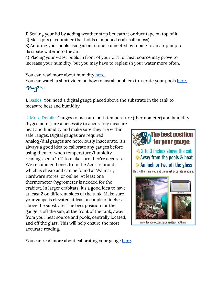 Chapter One - Land Hermit Crab Care Guid
