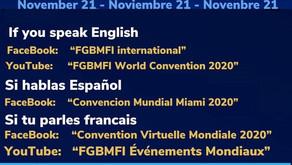 21 November: FGBMFI World Business Summit 2020