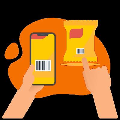 Application obiescan de code-barres tri