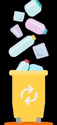 Poubelle jaune tri des déchets