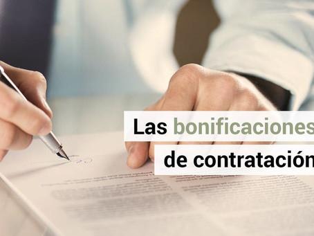 Guía de bonificaciones por contratación laboral (última Actualización Julio 2020)