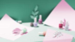 paper art nail polish product photogaphy