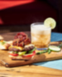 Burger and Drink Product Photo