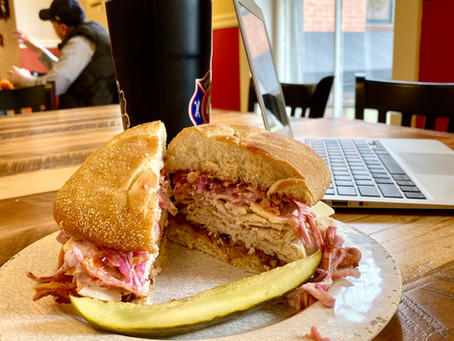 Tasty sandwiches, strong coffee and a comfy place to work in Manchester Vermont!
